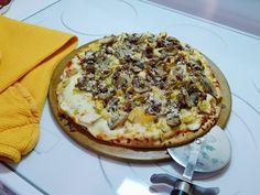 Kandy's Kitchen Kreations: Chicken, Bacon, Mushroom & Artichoke Pizza