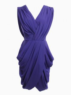 Purple Midi Wrap Dress - Choies.com