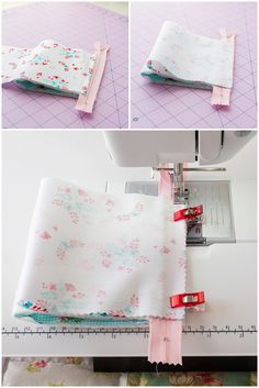 If you love sewing, then chances are you have a few fabric scraps left over. You aren't going to always have the perfect amount of fabric for a project, after all. If you've often wondered what to do with all those loose fabric scraps, we've … Sewing Hacks, Sewing Tutorials, Sewing Crafts, Sewing Tips, Tutorial Sewing, Coin Purse Tutorial, Zipper Tutorial, Zippered Pouch Tutorial, Makeup Bag Tutorials