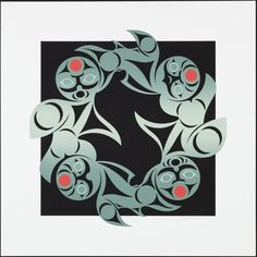 Connections (2001) by Susan Point, Coast Salish (Musqueam) artist