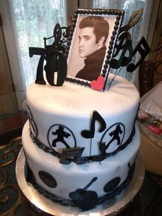 - Elvis 70th Birthday. Cake idea for my mom's bday.