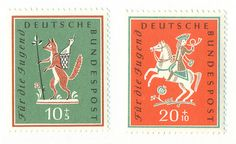 German stamps, 1958