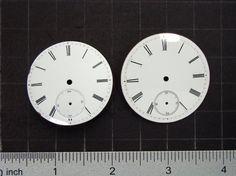 Antique Porcelain pocket watch faces watch by SteampunkArtSupplies #Steampunk