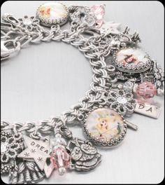 Silver Charm Bracelet Glinda the Good Witch by BlackberryDesigns, $123.00