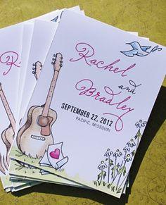 """Képtalálat a következőre: """"wedding invitation with guitar"""""""