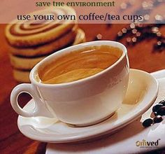 World Environment Day tips - Get your own mugs - If you love the umpteen cups of coffee and tea at your work place, carry your own mug instead of using the plastic alternatives that just cause a landfill.