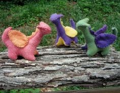 Kids (at least those that have been going to a Waldorf school for a few years) can create their own dragon pet.
