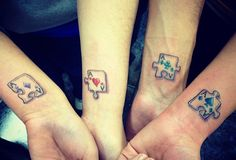 Puzzle Piece Sibling Tattoo Download