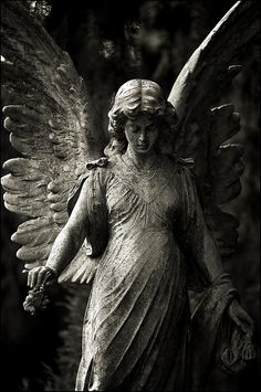 Statue ~ I like this angel because it reminds me of the guardian angels in pictures I saw as a child.
