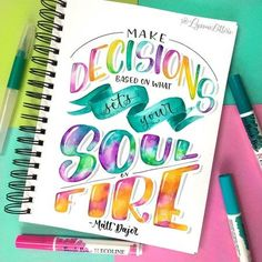 Bullet Journal Quotes, Bullet Journal Lettering Ideas, Bullet Journal Ideas Pages, Brush Lettering Quotes, Hand Lettering Alphabet, Calligraphy Drawing, Marker Paper, Creative Lettering, Lettering Tutorial