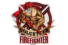Volunteer Firefighter Dog Reflective Decal from Mustang Loot