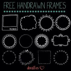 Hand drawn frames for your photos, scrapbooking, blogging, DIY, crafting, printables  and more! FREE!