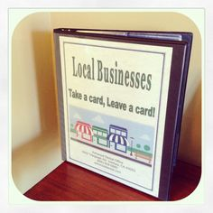 We love local Ventura businesses! Here's our business card binder! #businesscards #support #localbusiness #ashwooddental #holistic #dentist #office