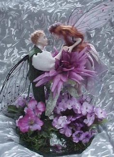 Fairy wedding cake topper