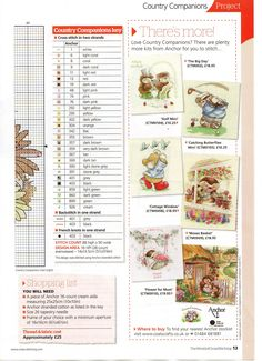 Fresh From The Country (Country Companions) From The World Of Cross Stitching N°175 2011 4 of 4