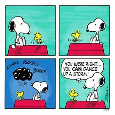 Woodstock dancing up a storm!