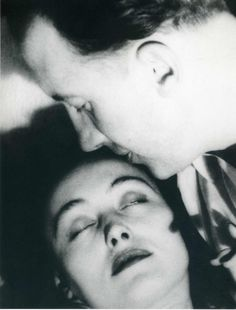 nusch et paul éluard (man ray). MAN RAY : ( 1890 - 1976 ) Surrealism / Dada / Photographer : More At FOSTERGINGER @ Pinterest