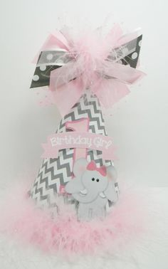 Personalized Pink and Gray Chevron Birthday by DoodlesDotsnDimples, $14.50