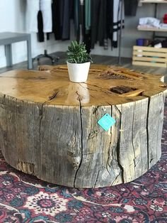 At 42 in diameter this stump coffee table fits the hard to find size of the larger scale commercial and residential spaces! I crafted this table from a huge Ponderosa log harvested years ago in an Arizona forest. It will be great talking point and center piece for your project. 42""