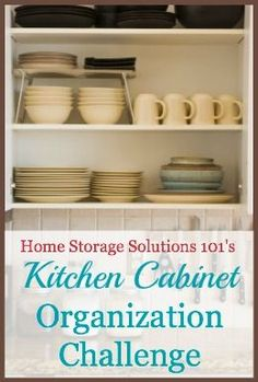 Step by step instructions for kitchen cabinet and drawer organization plus how to create zones in your kitchen for easier functioning and efficiency {part of the 52 Week Organized Home Challenge on Home Storage Solutions 101}