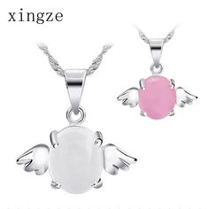 Find More Pendants Information about Fashion silver plated jewelry opal white and pink angel egg pendant for women fine jewelry wholesale chainless,High Quality jewelry picture,China jewelry making supplies beads Suppliers, Cheap jewelry counter from Xing