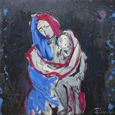 Sin título. Óleo sobre tabla. 122 x 122 cm. 2011. - Artista: Jorge Rando