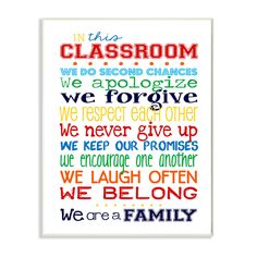 Stupell Industries The Kids Room In This Classroom Rules Wall Plaque & Reviews | Wayfair