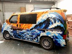 Want a vehicle with a new look, then you need the Graffiti Kings custom painted graffiti look. We paint cars, vans, bikes, trucks & Campers. Beetles Volkswagen, Volkswagen Bus, Vw T5, Graffiti King, Transporter Van, T4 Camper, Painted Vans, Sprinter Van, Funny Tattoos