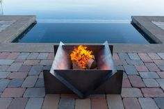 Astounding Tips: Fire Pit Lighting Decor easy fire pit with bricks.Fire Pit Cover Built Ins garden fire pit seating. Easy Fire Pit, Large Fire Pit, Metal Fire Pit, Concrete Fire Pits, Rectangular Fire Pit, Square Fire Pit, Gazebo, Fire Pit With Rocks, Fire Pit Party
