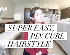 SIMPLE & EASY Pin Curl Hairstyle [classic and elegant]