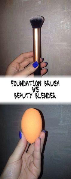 Foundation Brush VS the Beauty Blender <3