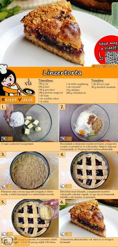 Hungarian Desserts, Linzer Torte, Cake Recipes, French Toast, Food And Drink, Anstatt, Sweets, Cookies, Healthy