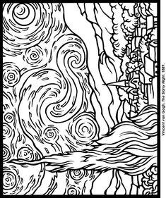 Vincent Van Gogh coloring page | Coloring Pages