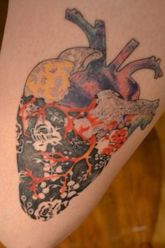 I like the idea of getting an anatomical heart with my mom's name in it plus my fave pattern--damask