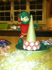 Christopher pop in kins / elf on the shelf peppermint tree