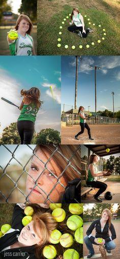 Softball Senior Photos - Batting, The Dugout, The Fence PERFECT
