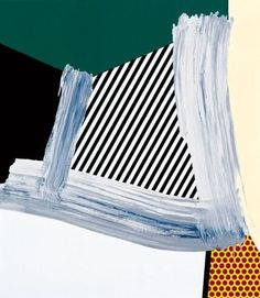 Roy Lichtenstein Brushstroke Abstraction II, 1996 Oil and Magna on canvas