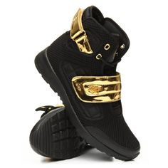 atlas 3 metallic buckle sneakers by Vlado ($90) ❤ liked on Polyvore featuring shoes, sneakers, vlado footwear, vlado sneakers, vlado and vlado shoes