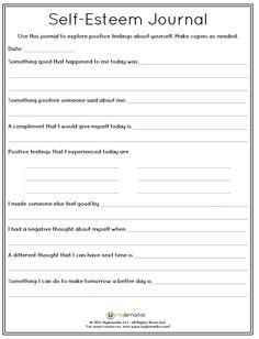 Therapeutic worksheets focused on helping kids and teens improve self-esteem and build confidence. Tools assist kids in building confidence, identifying positive qualities, and developing a healthy sense of self. Self Esteem Worksheets, Self Esteem Activities, Therapy Worksheets, Counseling Activities, Therapy Activities, Counseling Worksheets, Mental Health Activities, Mental Health Counseling, Mental Health Journal