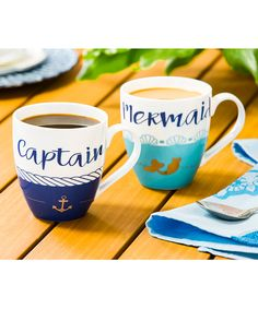 Cypress Home Captain & Mermaid Mug Set | zulily