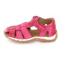 Bisgaard Kindersandale in Pink  aus Glattleder