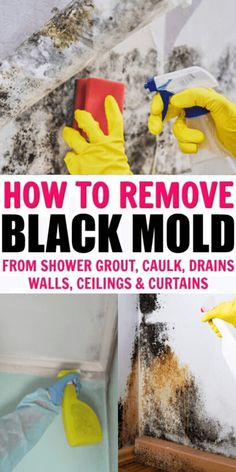 Cleaning Mold, Diy Home Cleaning, Bathroom Cleaning Hacks, Homemade Cleaning Products, Deep Cleaning Tips, Household Cleaning Tips, Cleaning Recipes, House Cleaning Tips, Natural Cleaning Products
