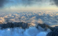 landscape, Nature, Mist, Mountain, Clouds HD Wallpaper Desktop Background