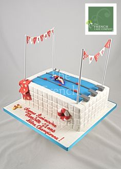 Birthday Cake Swimming - Gateau D'anniversaire Natation Sport - Verjaardagstaart