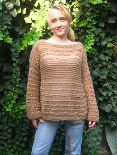Knitted women's beige sweater. Loose knit sweater. Oversized sweater loose knit oversized sweater Knitted sweater Knit beige sweater Knit women sweater women beige sweater Loose knit sweater grunge sweater knitting for women womens sweater pullover sweater loose weave casual sweater 53.00 USD #goriani