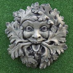Jolly Green Man. Many historic and contemporary depictions of the Green Man show him as a stern or enigmatic figure, emblematic of Autumn and all that that entails. Occasionally though he is seen as benign, kindly, or as in this case, as being full of the joys of Spring.