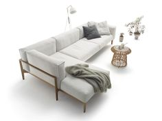 Canapé d'angle en tissu ELM, design Jehs+Laub - COR - News et communiqués de presse