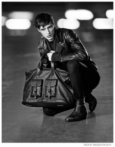 Adrien Sahores Poses in 70s Inspired Designs for Tiger of Sweden Fall/Winter 2014 Ad Campaign image Tiger of Sweden Fall Winter 2014 Campaign Adrien Sahores 001