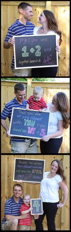Great idea for the future! Baby #2 announcement :)