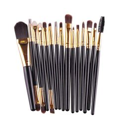 makeup brush New  15 pcs/Sets Eye Shadow Foundation Eyebrow Lip Brush Makeup Brushes Tool  17a25 #Affiliate